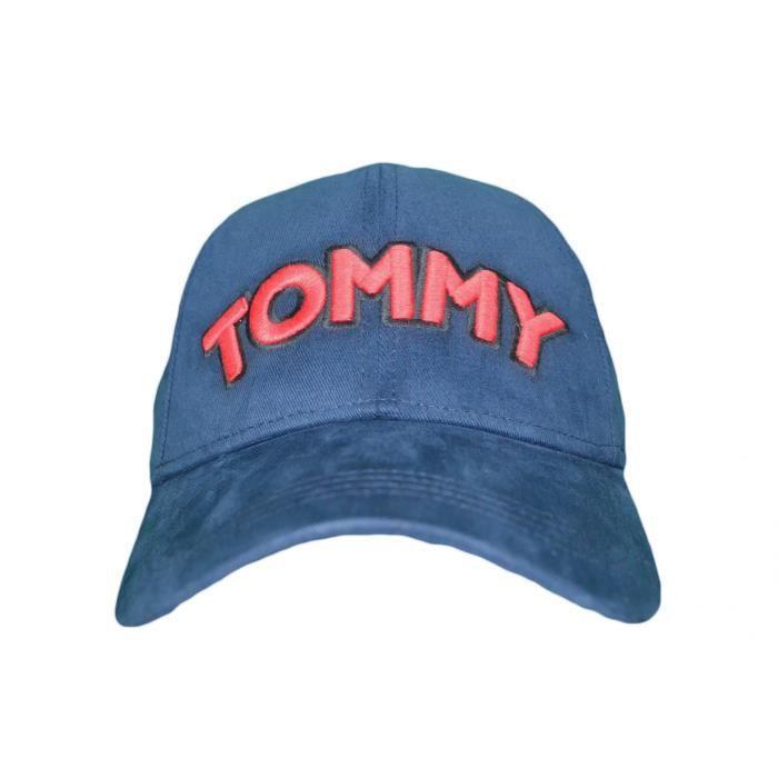 Casquette Tommy Jeans bleu marine logo rouge pour femme - Couleur: Bleu - Taille: TU