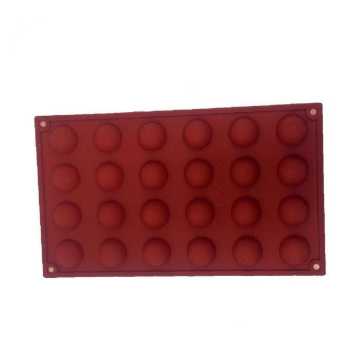 24 Sphères de silicone gâteau de silicone moule bricolage cuisson de cuisson antidérapable cupon réutilisable très résistant