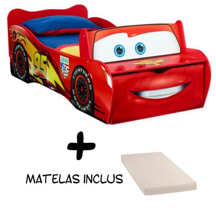 Lit Flash McQueen Cars Disney + Matelas