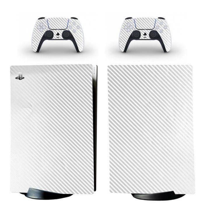 FLY07984-Carreaux sergé blanc,PS5 sticker Protection peau Dissipation thermique étanche Playstation 5 Digital Edition skin