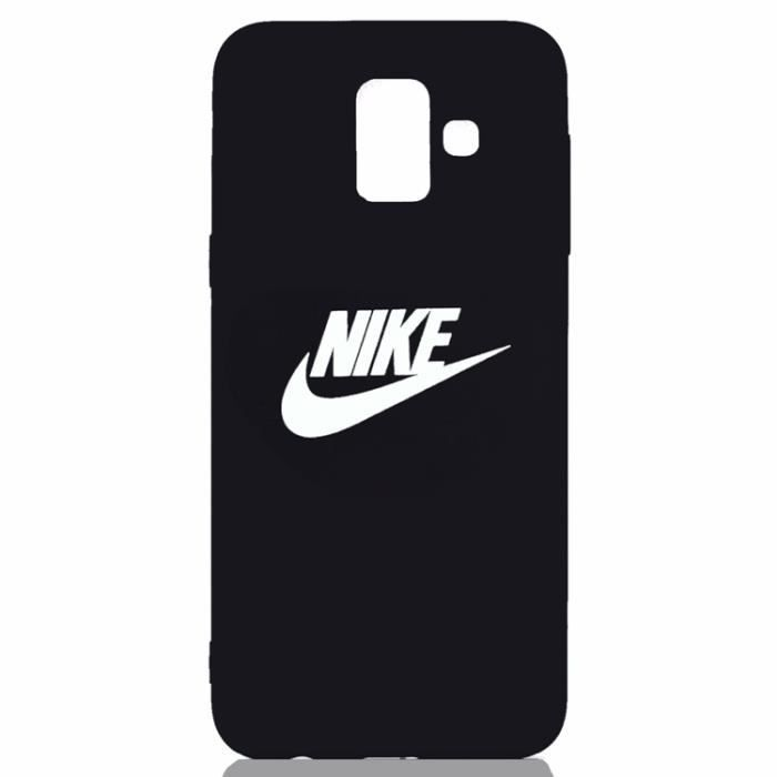 popular brand multiple colors buying now Coque Samsung Galaxy J6 Plus 2018,NIKE Logo Noir Coque Bumper Housse Etui  pour Samsung Galaxy J6 Plus 2018