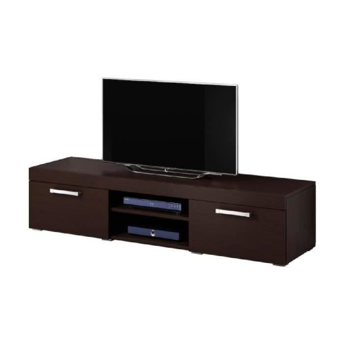 mambo meuble tv contemporain d cor ch ne fonc 160 cm achat vente meuble tv mambo meuble. Black Bedroom Furniture Sets. Home Design Ideas