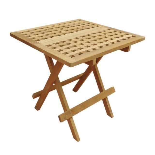 Achat Carrée Vente Pliante Table en cm basse 50x50 teck l31cuTKJF