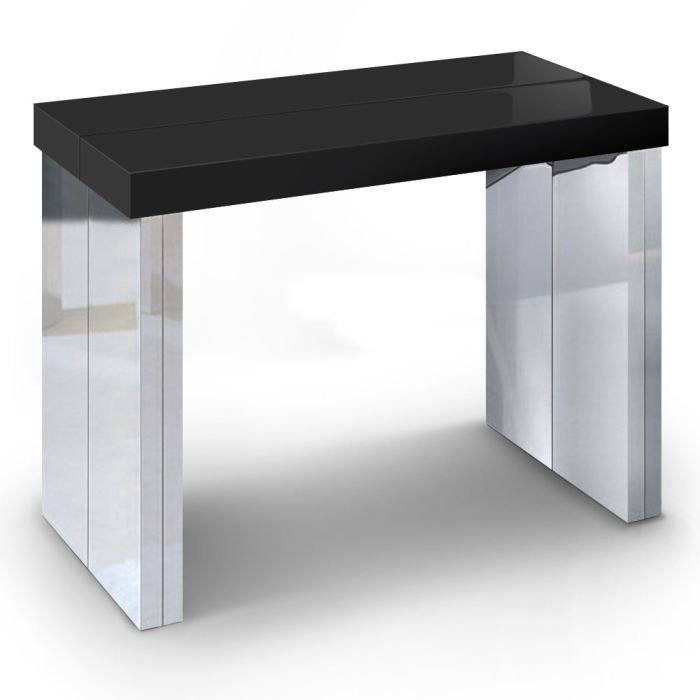 table console goa noir achat vente console table console goa noir cdiscount. Black Bedroom Furniture Sets. Home Design Ideas