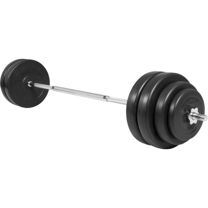 WOVELOT Barre de musculation avec poign/ée en V /à double rang/ée pour c/âbles