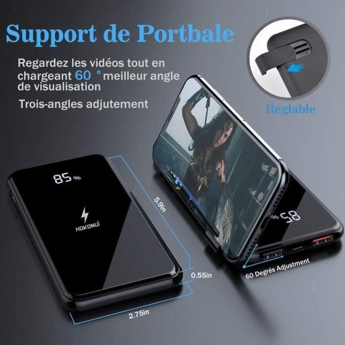 BATTERIE EXTERNE Chargeur à Induction sans Fil,Chargeur Portable 10