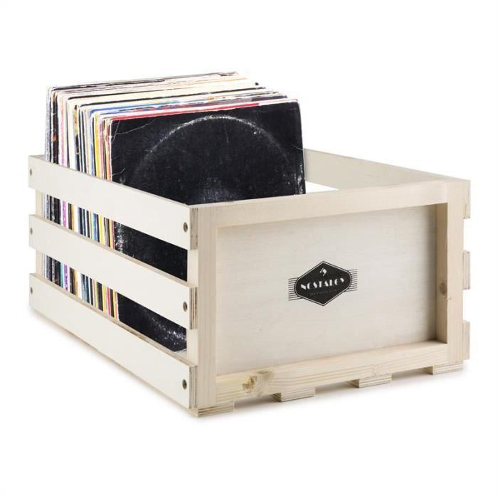 1Byone disque vinyle Housse de transport pour 30/albums noir