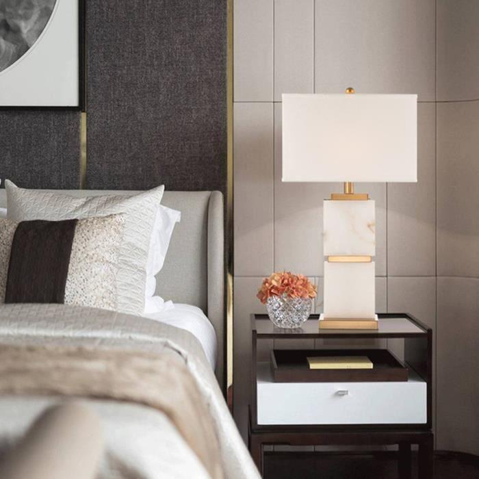 Post Moderne Luxe Rural Blanc Marbre Option Tissu E27 Lampe De Table Pour Salon Modele Chambre Achat Vente Post Moderne Luxe Rural Bla Cdiscount