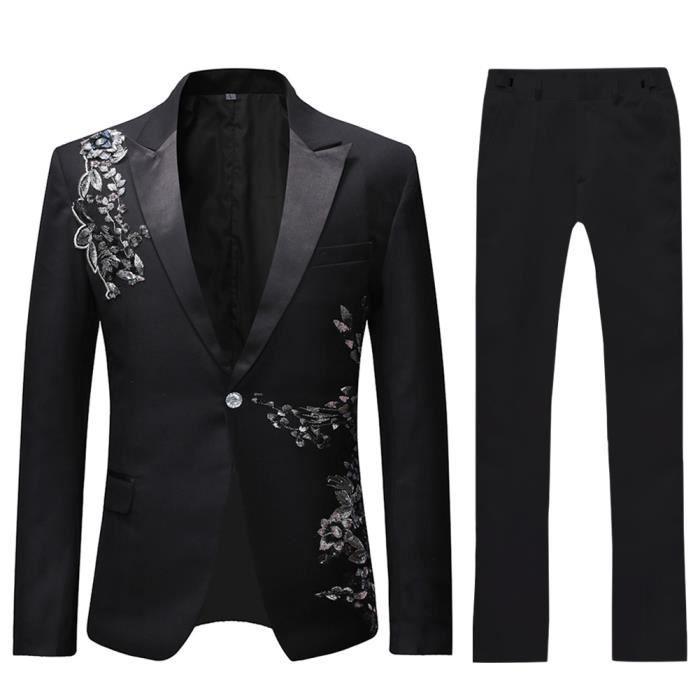 Nouveau Homme 4 pièces Noir Soirée Cravate blanche Queue Pie pantalon gilet Bowtie