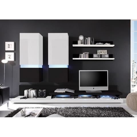 meuble tv blanc laque led pas cher. Black Bedroom Furniture Sets. Home Design Ideas