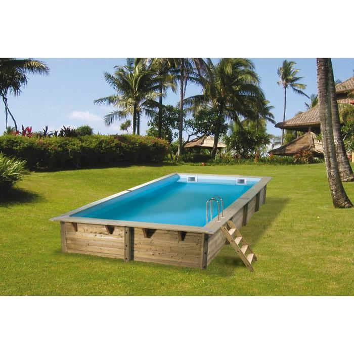 Cdiscount piscine bois maison design for Piscine 2x3
