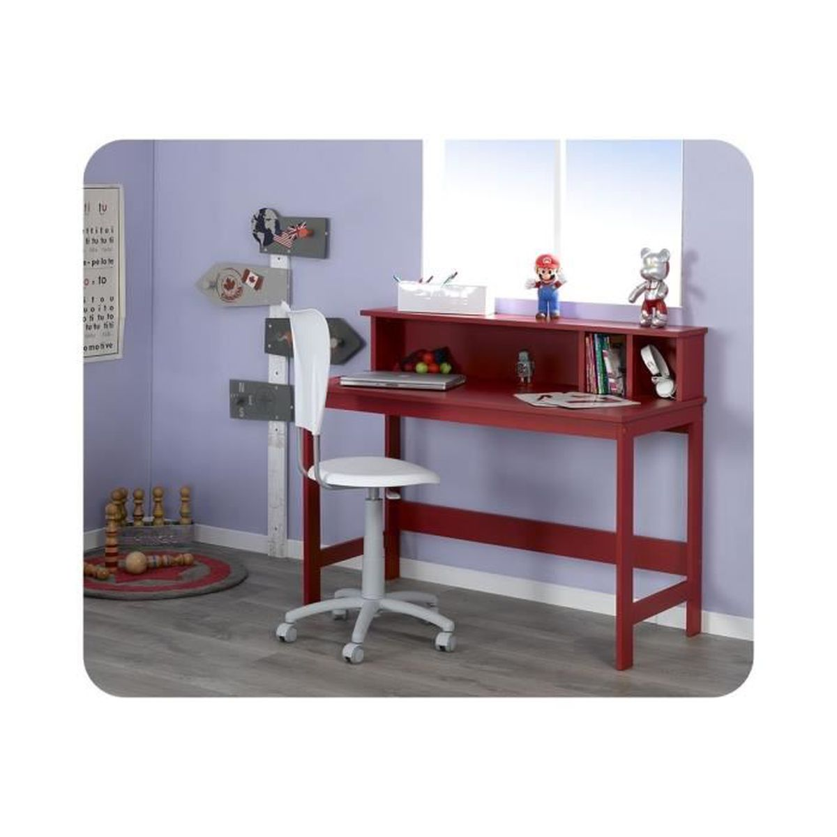 bureau enfant loft rouge achat vente bureau bureau enfant loft rouge soldes d t cdiscount. Black Bedroom Furniture Sets. Home Design Ideas