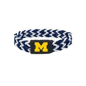 MONTRE Women's Michigan Wolverines Bracelet Braided Navy