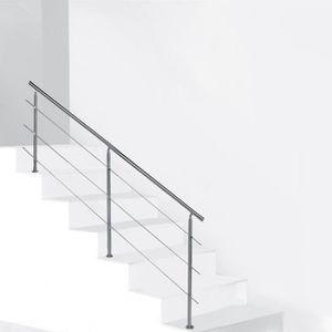 balcon ou parapet Garde-corps pour int/érieur et ext/érieur 150cm,couleur claire MCTECH 150cm Balustrade inox pour Escaliers Main courante bois