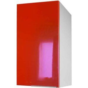 ÉLÉMENTS HAUT Meuble de cuisine haut 1 porte - 40cm - Rouge - Él