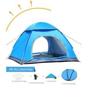 TENTE DE CAMPING Tente 3~4 Personnes de Camping Pop Up Ouverture Au