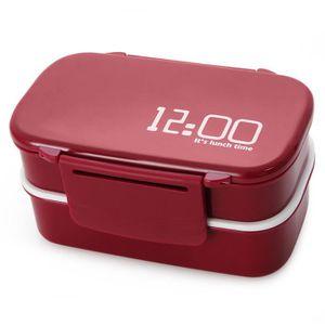 LUNCH BOX - BENTO  Portable à deux étages contenant de boîte à lunch