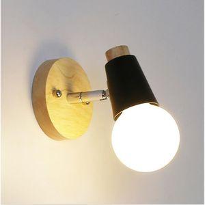 APPLIQUE EXTÉRIEURE   1 pcs solide bois mur lampe chambre lampe de che