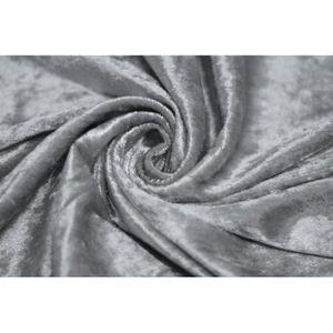 TISSU Tissu Panne de Velours Grise -Au Mètre
