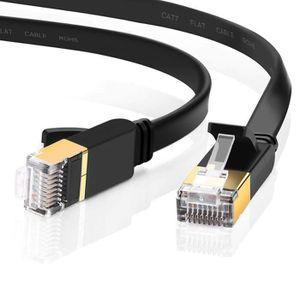 CÂBLE RÉSEAU  Ototon® 30M CAT 6 Plat Câble Ethernet Réseau RJ45