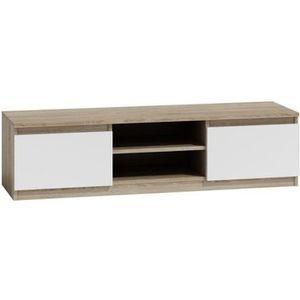 MEUBLE TV Meuble TV moderne pour salon 140 cm 40 Sonoma-Blan