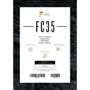 FILTRE POUR HOTTE FC35 - filtre à charbon universel à découper 2 cou