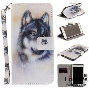 HOUSSE - ÉTUI Pour Apple iPhone 7 Plus-8 Plus Les loups Peint Cl