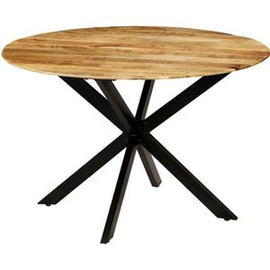 TABLE À MANGER SEULE Table à Manger Ronde en Bois  avec Style Industrie