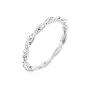 ALLIANCE - SOLITAIRE Alliance Or Blanc et Diamants 0,06 carats
