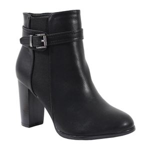 BOTTINE By Shoes - Bottine Rock Effet Cuir - Femme