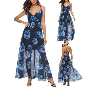 ROBE floral camisoles Casual Mode féminine Bandage Robe