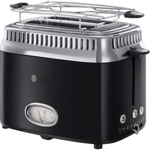GRILLE-PAIN - TOASTER Grille pain RUSSELL HOBBS 21681-56 Retro Noir