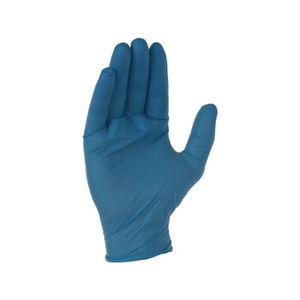 PERCEUSE Gant nitrile bleu usage unique aql 1,5 taille 8-9b