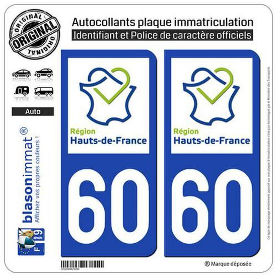 blasonimmat 2 Autocollants Plaque immatriculation Auto 986-H Wallis-et-Futuna Armoiries