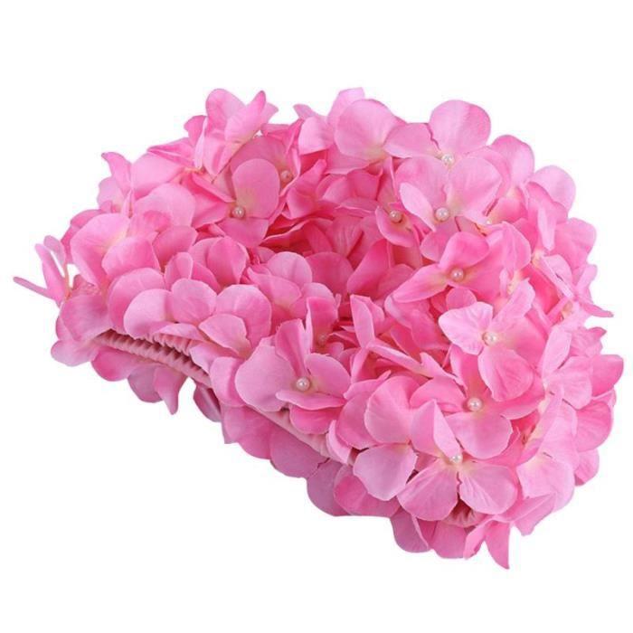 Bonnet de bain à fleurs 3D pour femmes, bonnet de bain pour cheveux longs [F1BB871]
