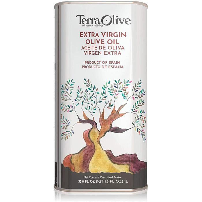 TerraOlive - Huile d'Olive Extra Vierge - 1L Boîte
