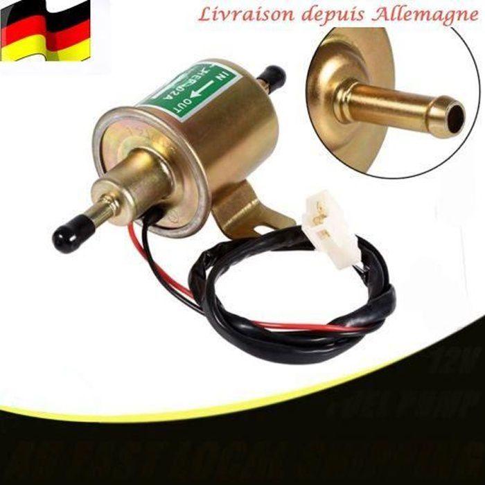 Pompe à carburant universelle et électronique 12 V Compatible avec essence et diesel