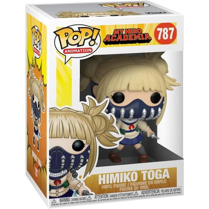 Funko- Pop Animation: My Hero Academia-Himiko Toga w/Face Cover Figurine de Collection, 48471, Multicoleur