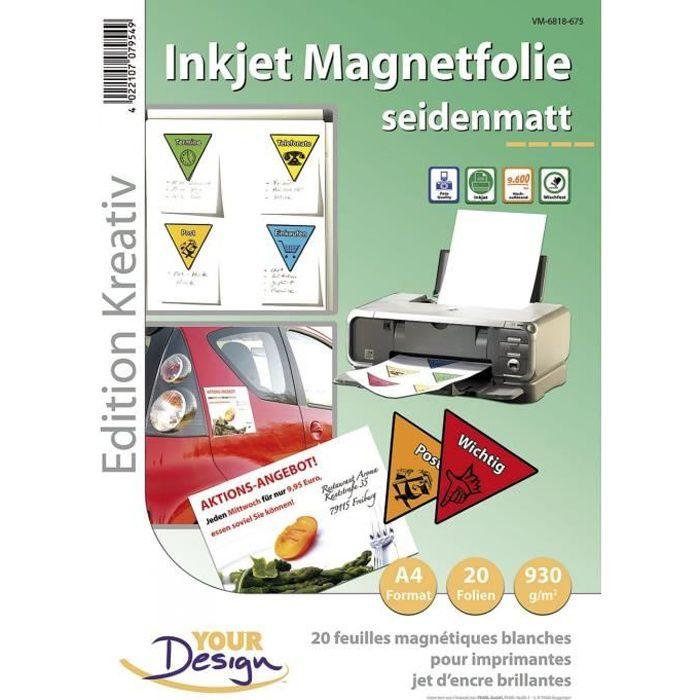 20 Feuilles A4 magnétiques