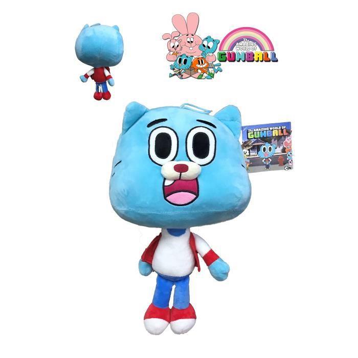 GMBALL Le monde incoyable de Gumball - Peluche Gumball personnage bleu 40cm - Belle Qualité - azul