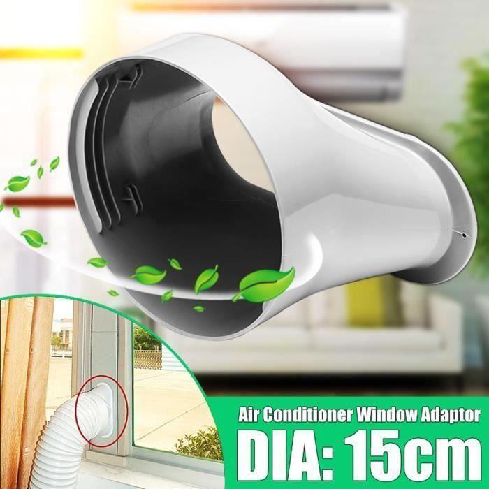 Fenêtre Adaptateur d'interface plate DIA.15cm pour Mobile Climatiseur Climatisation Portable Portatif Ve06992