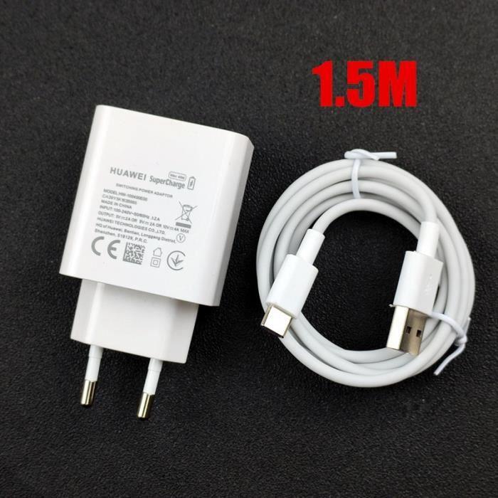 Chargeurs,Original EU Huawei P30 Pro chargeur rapide 40W suralimentation charge rapide 5A USB type C - Type 1.5M EU Charger Set