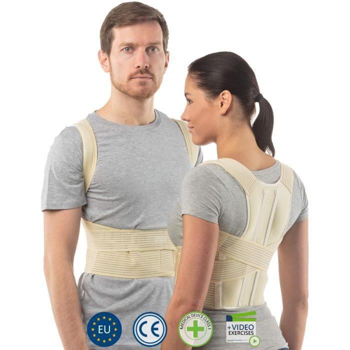 correcteur de posture par redresse posture dos élastique pour femme support thoracique et lombaire soulagement des maux de