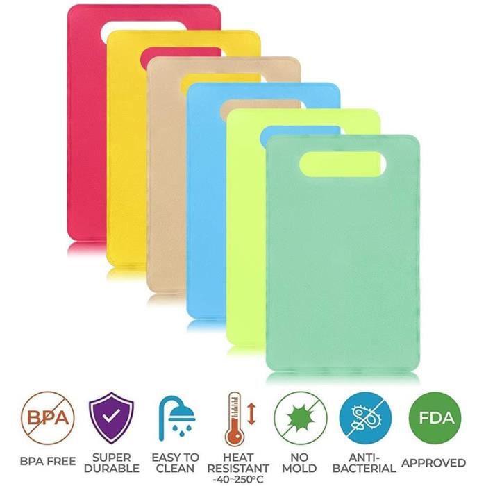 Planche à découper,Planche à découper Flexible en plastique sans BPA antibactérien codé lave vaisselle antidérapant - Type 1set #A