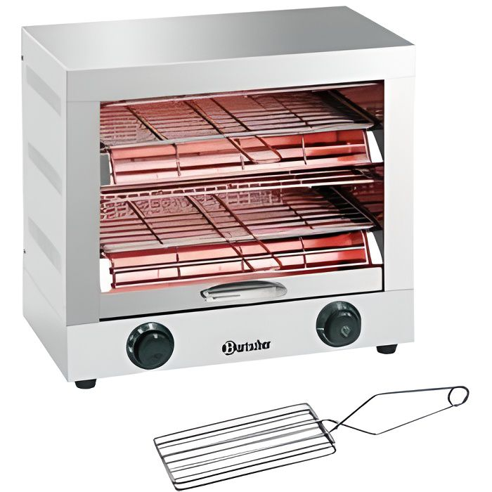 Appareil à toaster/gratiner double