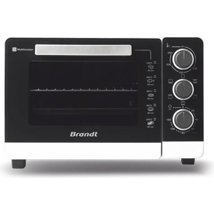 BRANDT FC265MWST - Four Compact 26L - Multifonctions - Thermostat réglable jusqu'à 250°C - 1500W - Noir et blanc
