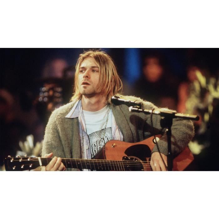 Poster Affiche Kurt Cobain Nirvana Rock Grunge Live Unplugged 31cm x 55cm