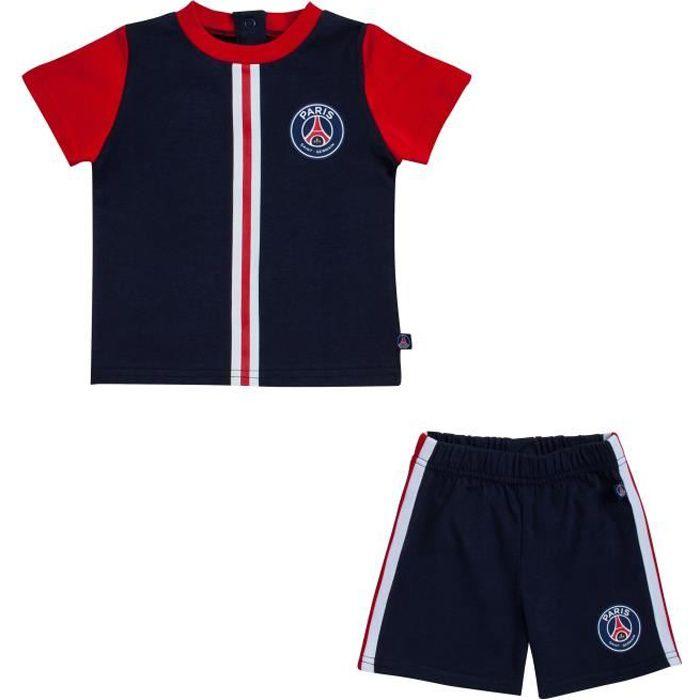 Ensemble PSG T-shirt + short - Collection officielle PARIS SAINT GERMAIN - Bébé