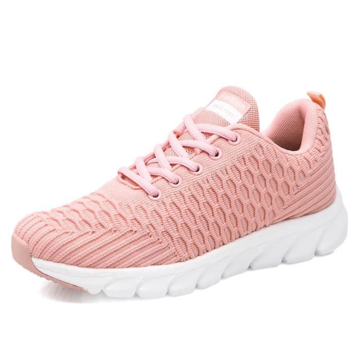 BASKET Femme - simple Baskets Chaussures de course sport et loisir - rose MR™