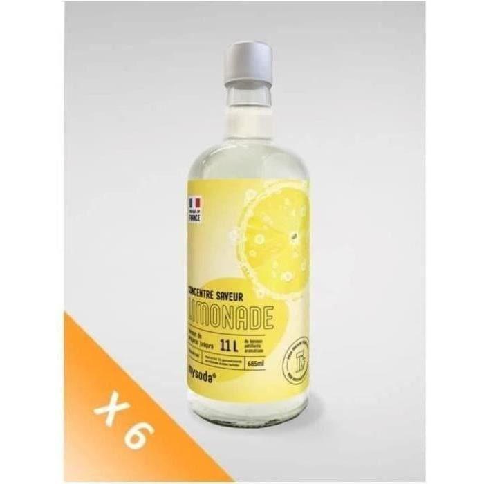 MYSODA - Lot de 6 Concentrés saveur Limonade 685ml